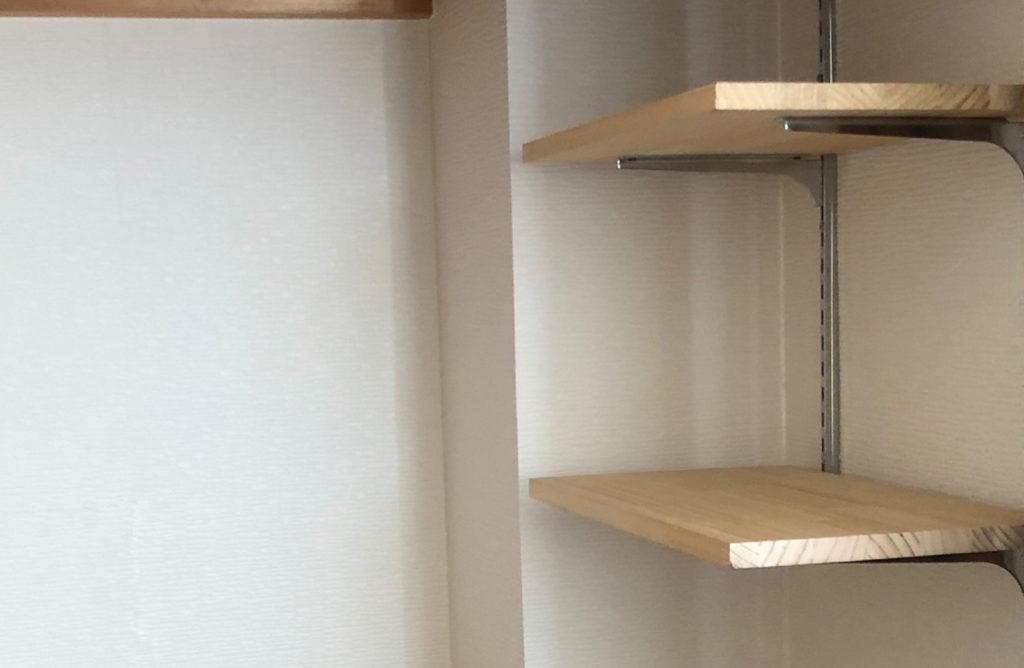クローゼットに作った棚